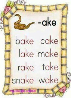 Rhyming Phonics Chart, Phonics Flashcards, Phonics Rules, Jolly Phonics, Phonics Worksheets, Phonics Reading, Teaching Phonics, Kindergarten Reading, Teaching Reading