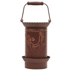 Tin Lantern Style Tart/Oil Warmer - Rooster