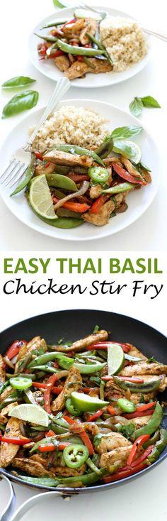 Thai Basil Chicken Stir Fry...