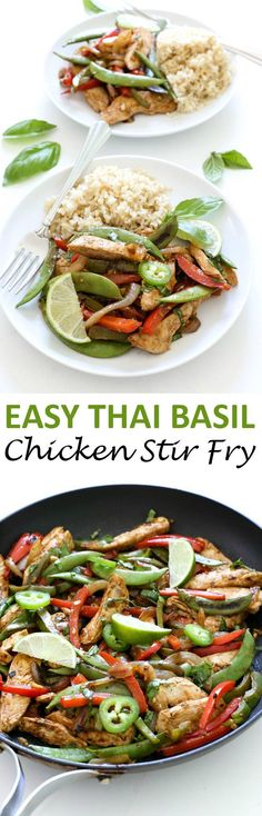 Thai Basil Chicken Stir Fry...