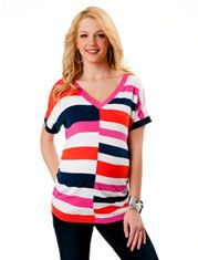 Short Sleeve Ruched Maternity Sweater