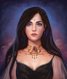 Princess with purple eyes and black hair – Fantasy Fantasy Girl, Fantasy Princess, Fantasy Women, Female Character Inspiration, Fantasy Inspiration, Character Portraits, Character Art, Fantasy Characters, Female Characters