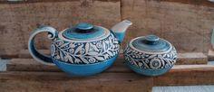 Ceramic tea set Blue teapot set Ceramics handmade sugar bowl Clay sugar bowl Ceramic sugar box Gift hostess Presents for mum Wife gift by CeramaStudio on Etsy https://www.etsy.com/listing/486396688/ceramic-tea-set-blue-teapot-set-ceramics