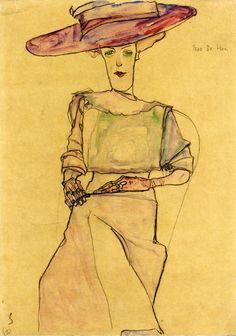 egonschiele-art: Portrait of Madame Dr. Horak, 1910 Egon Schiele
