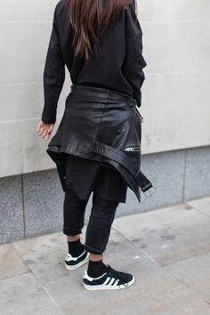 #Street #Look #Girl #Adidas #Black