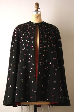 Traina-Norell cape ca. 1941 via The Costume Institute of the Metropolitan Museum of Art