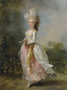 Jean-Frédéric Schall (1752-1825) Portrait of a Lady, said to be Mademoiselle Guimard ballerina at the Paris Opéra