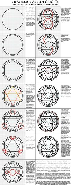 "Sigils & Symbols: #Transmutation #Circles, ""Part Three: Drawing Transmutation Circles"". Full Metal Alchemist / Hagane No Renkinjutsushi."