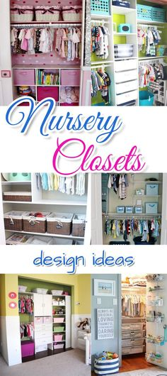 Nursery decor and design ideas - how to set up the nursery closet.  Great ideas for organizing the closet in your baby's room.