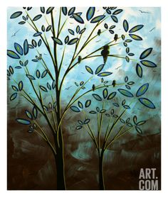 Bird House Giclee Print by Megan Aroon Duncanson at Art.com