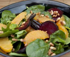 Roasted Beetroot and Orange Salad, French Vinaigrette: Citrus and beetroot are an unbeatable combination! Salad Recipes For Dinner, Easy Salads, Healthy Salad Recipes, Diet Recipes, Recipies, Best Vegetable Recipes, Homemade Vegetable Soups, French Vinaigrette, Vegetable Casserole