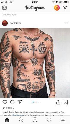 Sleeve Tattoos for Men – Best Sleeve Tattoo Ideas and Designs Tattoos Torso, Boy Tattoos, Music Tattoos, Body Art Tattoos, Tattoos For Guys, Sleeve Tattoos, White Tattoos, Arrow Tattoos, Tatoos Men