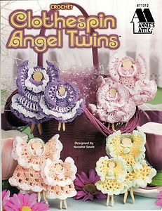 Clothespin angel twins by Annie's Attic