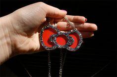 Custom Hello Kitty Bow Necklace by emikoshop on Etsy, $20.00