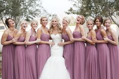 love this color as the bridesmaids dresses