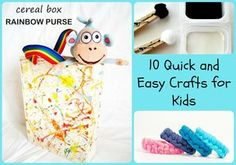 10 Quick and Easy Crafts for Kids – 5 Minutes for Mom - Handwerk Quick And Easy Crafts, Easy Crafts For Kids, Crafts To Make, Fun Crafts, Frozen Painting, Painting For Kids, Playing With Slime, Felt Puppets, Having A Blast