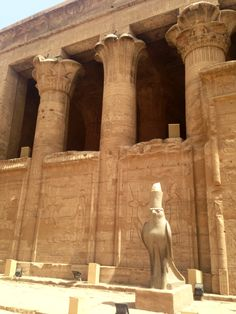 Temple of Horus, Edfu, on the banks of the #Nile, #Egypt, #AncientCivilizationsAdventure, May 2014