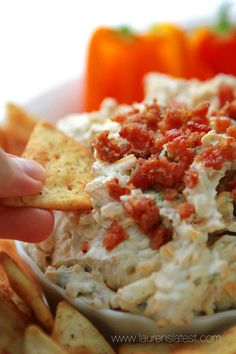 Dive into the perfect dip for a Memorial Day cookout—mouth-watering Cheddar Bacon Ranch Dip from @Lauren's Latest!