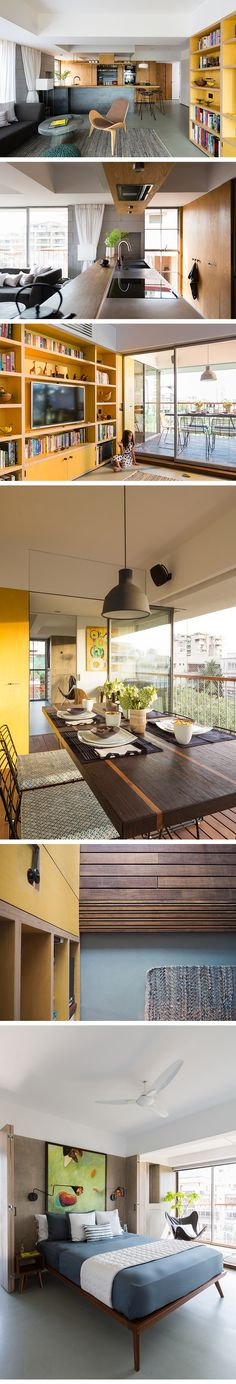 Apartment Renovation in Mumbai - With a flexible and multifunctional layout the apartment uses a natural material palette