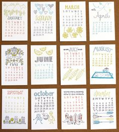 2012 letterpress calendar from 1canoe2... I think Santa might bring me this for Christmas if I'm good!