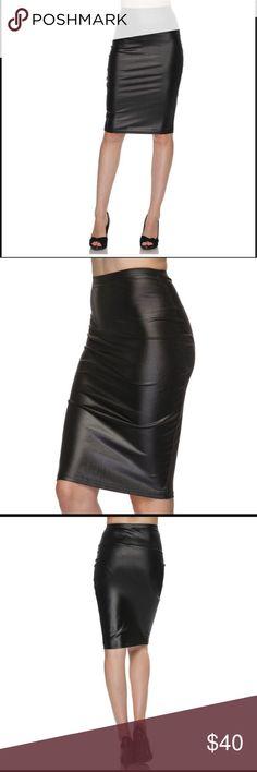 2 left! Vegan Leather Skirt 🖤 Faux black vegan skirt! Sugar Punch Couture Skirts Pencil
