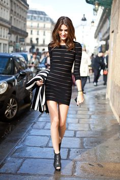 bandage dress #streetstyle #fashion