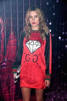 Gucci Spring 2017 Show Front Row - September 2016 Gucci Spring 2017, Party Pictures, Got The Look, Woman Crush, Pretty Woman, Front Row, Casual Wear, Cheer Skirts, Mini Skirts