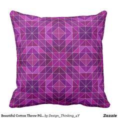Beautiful #Cotton #Throw #Pillow.