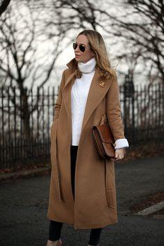 Warm fabrics + warm neutrals = a cool winter look on Brooklyn Blonde.