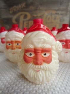 Vintage Santa Plastic Light Covers for Christmas by corrnucopia, $15.00