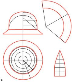 Шляпка с полями. Проектирование полей разного вида   pokroyka.ru-уроки кроя и шитья