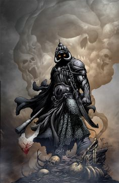 Frazetta's Death Dealer. Always good for over the top and imposing awesomeness.