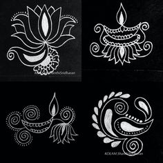 Rangoli Borders, Rangoli Ideas, Rangoli Designs Diwali, Rangoli Designs Images, Kolam Rangoli, Beautiful Rangoli Designs, Mehandi Designs, Diwali Drawing, Alpona Design