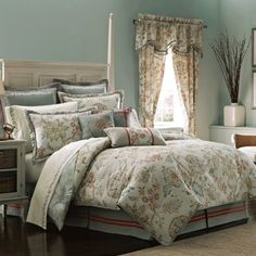 Croscill Retreat Comforter Set Queen Aqua * Read more reviews of the product by visiting the link on the image.