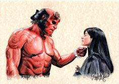 #Hellboy #Love #Liz #Hell #Drawing