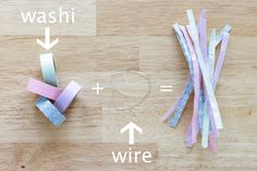 Washi Tape Twist Ties at Hands Occupied