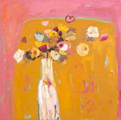 the colour of ideas: Kirsty Wither Art And Illustration, Art Floral, Painting Inspiration, Art Inspo, Abstract Flowers, Abstract Art, Kunst Inspo, Guache, You Draw