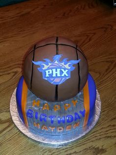 Phx Sun themed birthday cake