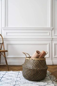 Beautiful Woven Belly Basket For Plants Or Storage