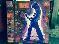 Jimmy Page Painting by Ray Stephenson - If you'd like this original artwork, please E-Mail RayboMusic@bellsouth.net today! ○○○ #LedZeppelin #JimiPage #JimmyPaige #RockAndRoll #Art #Nashville #Tennessee #Artist #acrylic #music #RockMusic #BlackDog #StairWayToHeaven #guitar #band #Zeppelin #LedZeppelinArt #LedZepelin #LedZeppellin