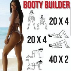 Why Your Butt Workout Isn't Giving You A Killer Booty? Working out your butt can be difficult especially for women because the hips and upper legs are common areas for body fat storage which can make it tough to see the muscle you might be developing. Fitness Workouts, Fitness Motivation, Fitness Gym, Sport Fitness, Body Fitness, Fun Workouts, At Home Workouts, Health Fitness, Body Workouts