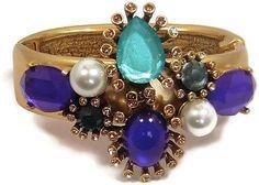 Oscar de la Renta Purple Cabochon Cuff Bracelet - http://elegant.designerjewelrygalleria.com/oscar-de-la-renta/oscar-de-la-renta-purple-cabochon-cuff-bracelet/