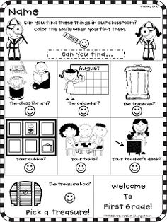 EVERY SINGLE freebie for your Meet and Greet or Open House (preK, K, as seen on Kindergarten Klub www. Back To School Night, 1st Day Of School, Beginning Of The School Year, School School, Summer School, Open House Activities, Preschool Open Houses, Kindergarten Classroom, Classroom Ideas