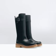 ZARA - WOMAN - CONTRAST LEATHER BOOT