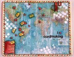 Art Journal Page: I {heart} cardmaking