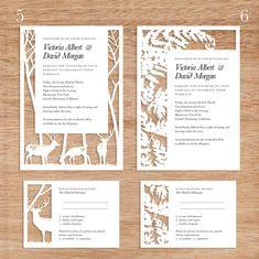 woodland paper cut