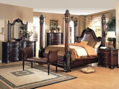 King Bedroom Sets Wooden