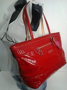 New-Coach-Red-Patent-Leather-Tote-Bag-Poppy-Shoulder-Bag-18674