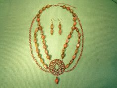 Elegant Unikite Necklace And Earring Set by SandiesGiftCorner, $55.95