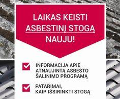 Patarimai, norintiems pasikeisti asbestinio stogo dangą.
